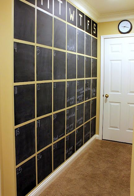 wall-painted-with-blackboard-paint-and-battens-fixed-to-make-a-calendar